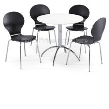 Kimberley Dining Set White Table & 4 Black Chairs 1/2 Price Deal